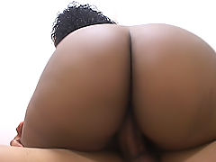 Thick black babe pounded by a lucky stud