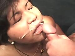 Ebony chubby honey fucking hard with dude