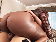 Thick ebony chick Skyy Black keeps cumming as her asshole is penetrated with a hard cock