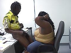 Ebony BBW gets a dick inside her snatch