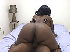 Wild black fatty has got a wet pussy for him to bang deep