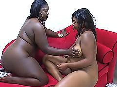 BBW lesbians take a deep drilling